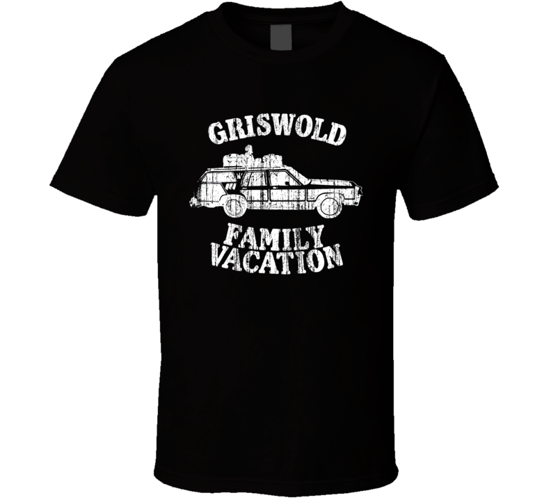 Cool National Lampoons Vaction Griswold Family Vacation Distressed T Shirt