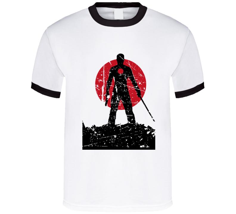 Cool Bloodshot Character Distressed Comic  T Shirt