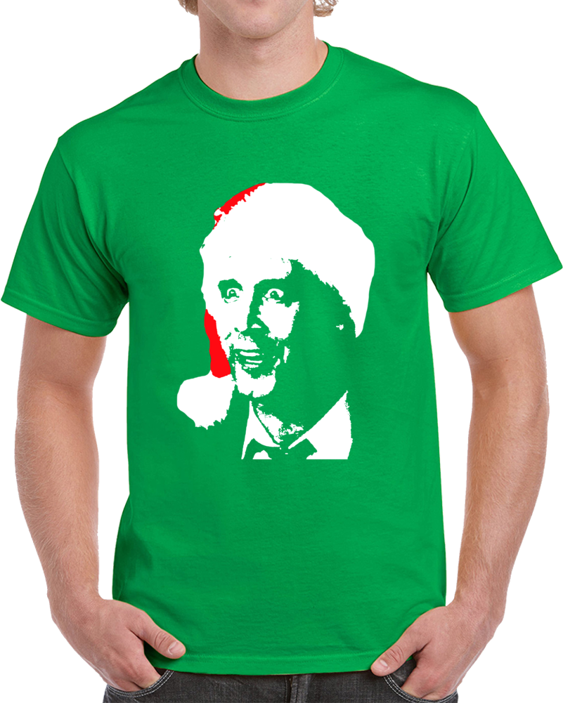 Cool National Lampoon's Christmas Vacation Clark Griswold Big Head Silhouette Christmas T Shirt