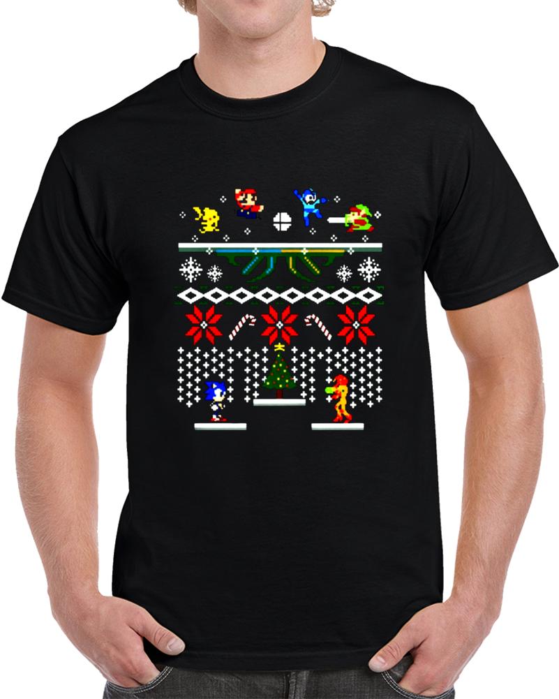 Nintendo Sega Ugly Christmas Sweater Style Super Mario Metroid Sonic ...