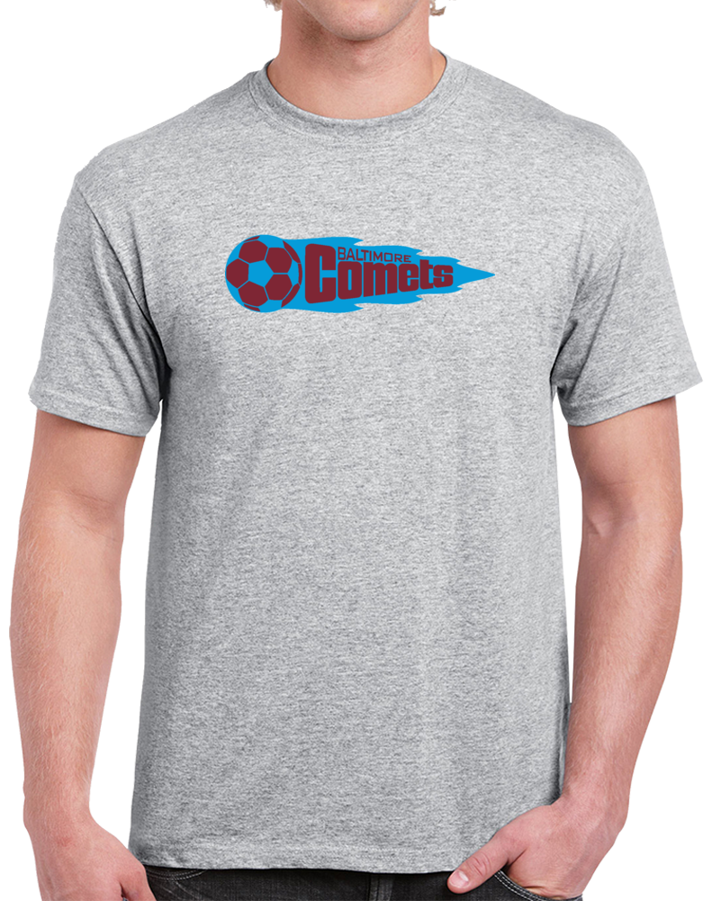 Retro Baltimore Comets North American Soccer League NASL   T Shirt
