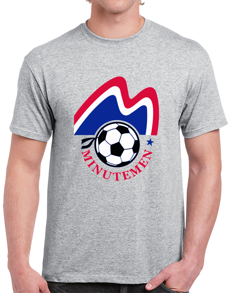 Retro Boston Minutemen North American Soccer League NASL   T Shirt