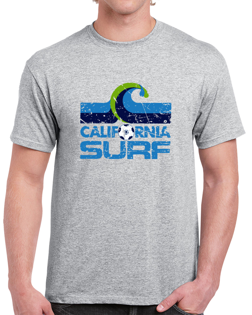 Retro California Surf North American Soccer League NASL Distressed T Shirt