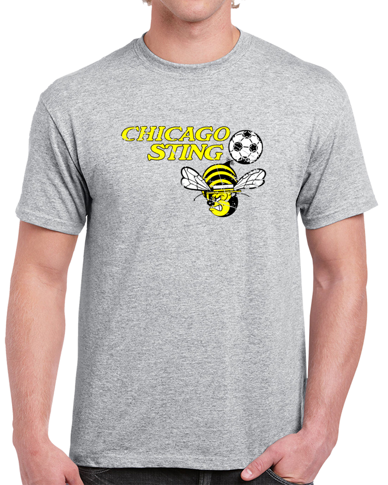Retro Chicago Sting North American Soccer League NASL Distressed T Shirt