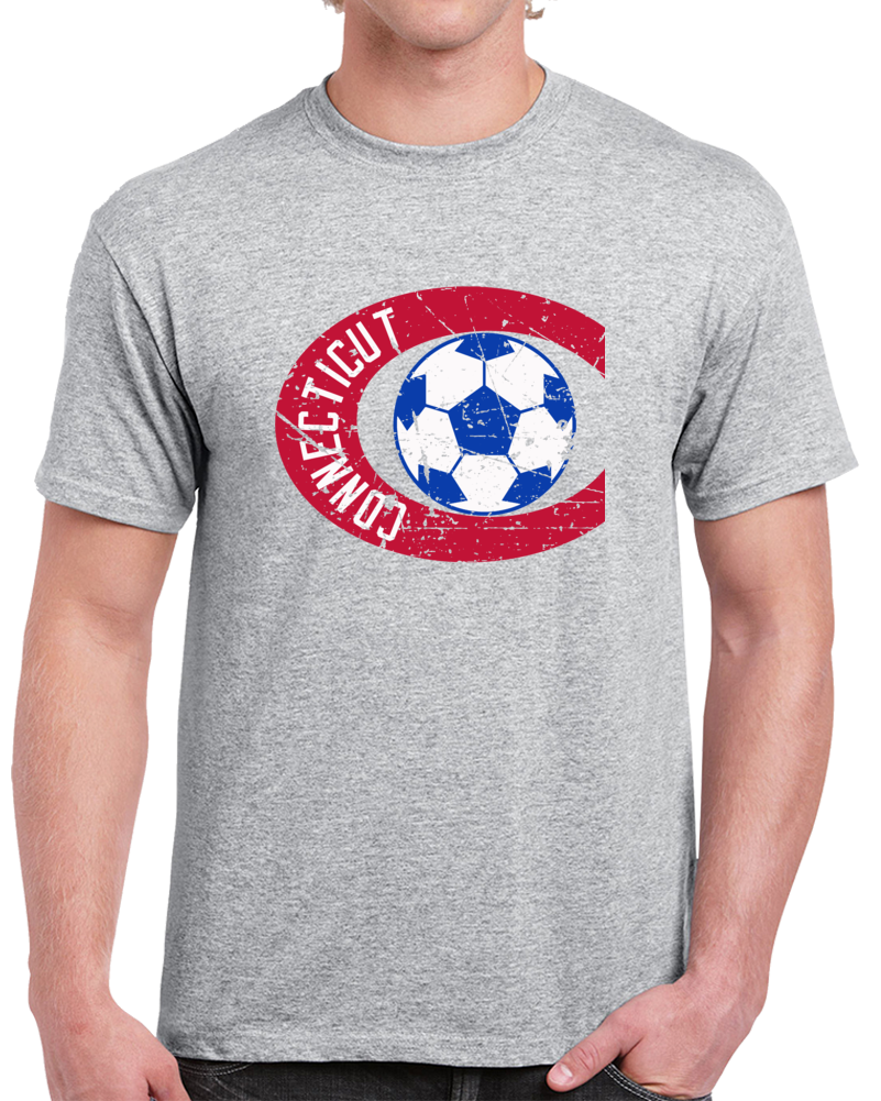 Retro Connecticut Bicentennials North American Soccer League NASL Distressed T Shirt