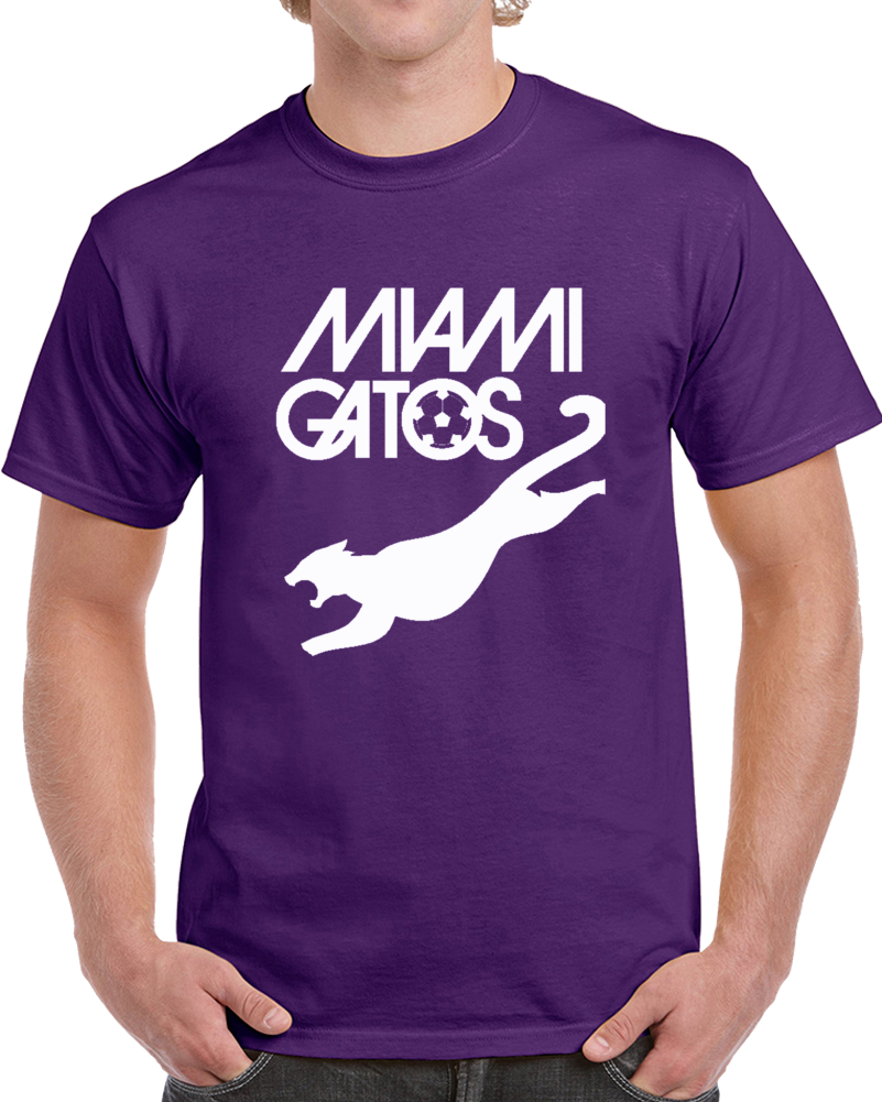 Retro Miami Gatos North American Soccer League NASL T Shirt