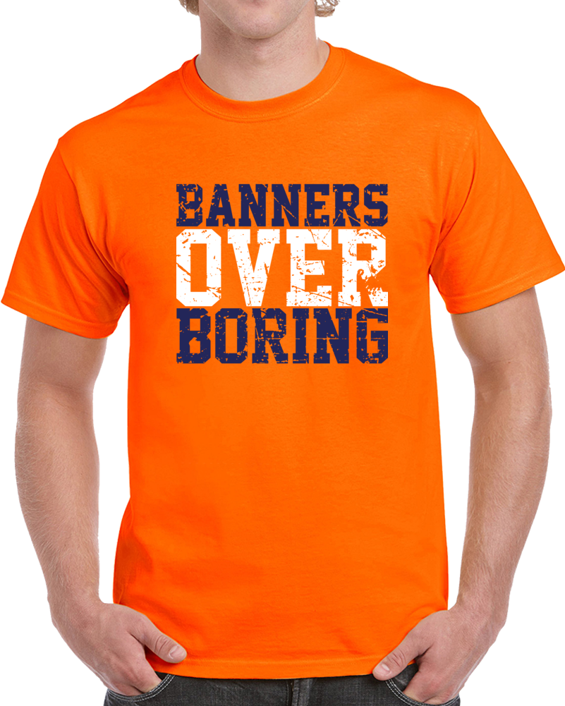 UVA University of Virginia College Basketball Banners over Boring Distressed T Shirt