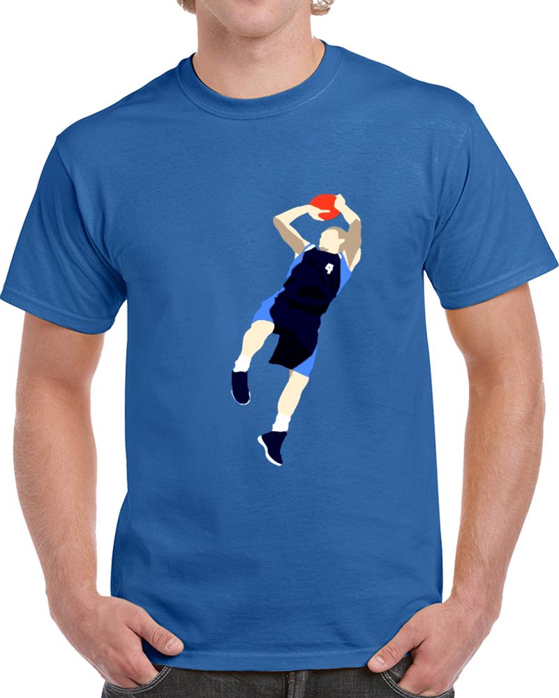 Dirk Nowitzki Dallas Basketball Team Caricature  T Shirt
