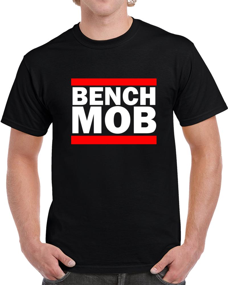 Toronto Basketball Bench Mob RUN Bench DMC Parody Team Playoff Basketball Fan  T Shirt