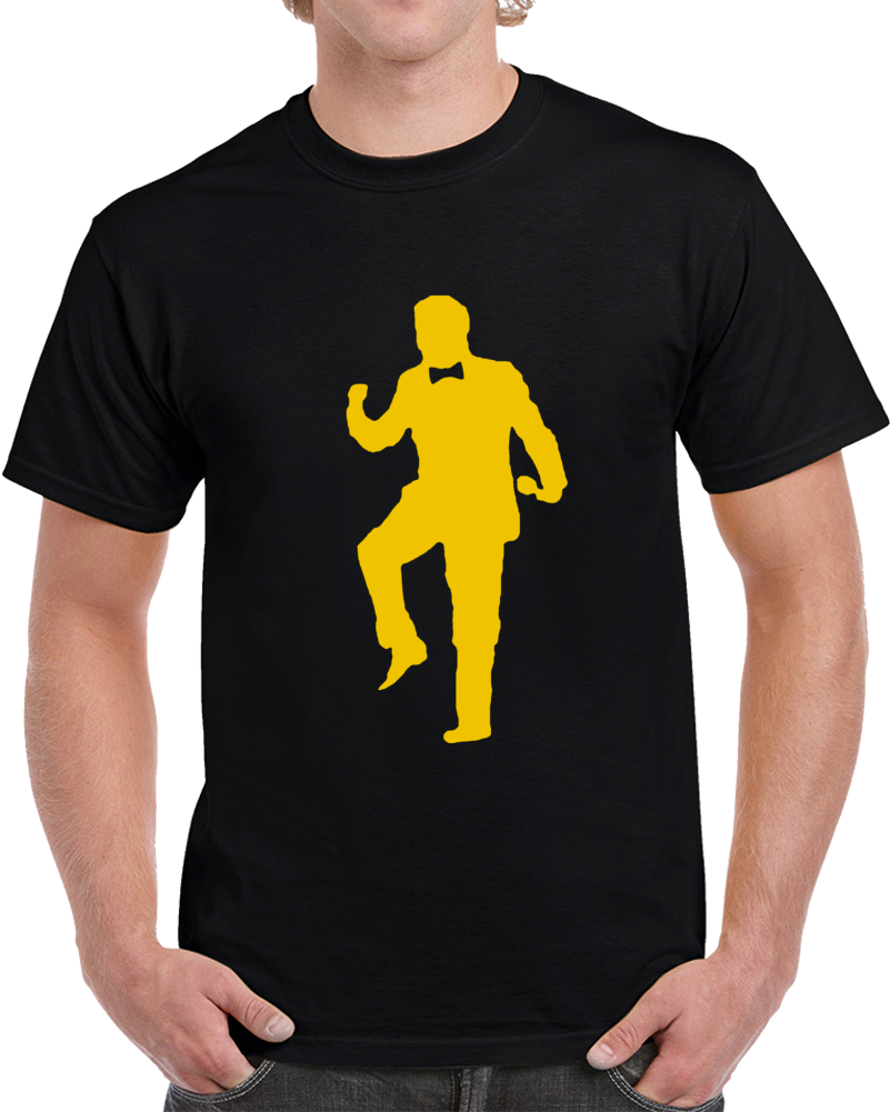 Boston Hockey Team Rene Rancourt Silhouette Fist Pump Hockey Fan   T Shirt