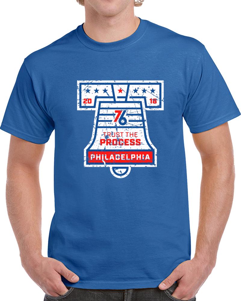 Philadelphia Basketball Team Trust the Process Bell Philadelphia Basketball Fan T Shirt