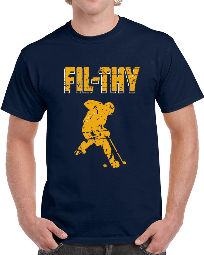 Nashville Hockey Team Filthy Filip Forsberg Silhouette Nashville Hockey Fan V2 T Shirt