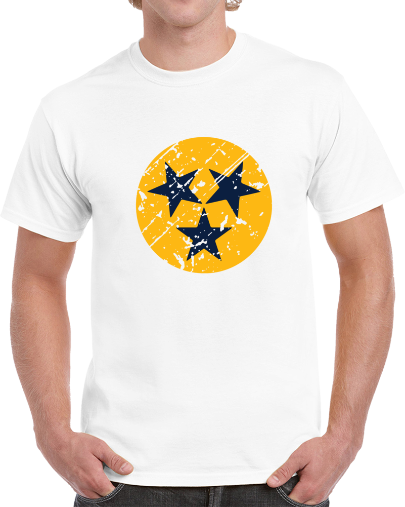 Nashville Hockey Team Logo Distressed  Nashville Hockey Fan   T Shirt