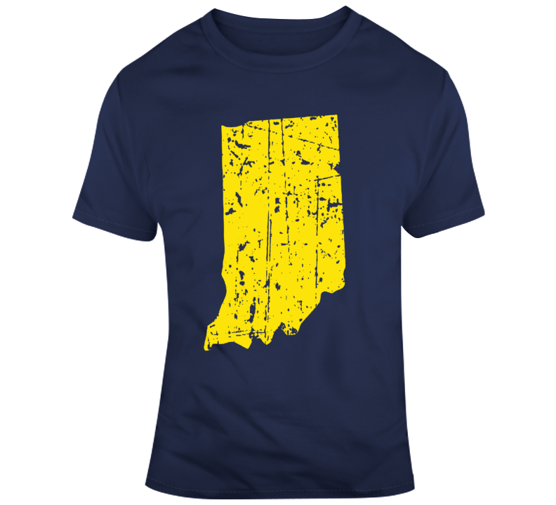 State of Indiana Silhouette Distressed T Shirt