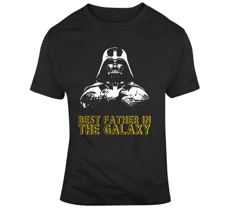 Father's Day Best Father in The Galaxy Darth Vader Silhouette  T Shirt