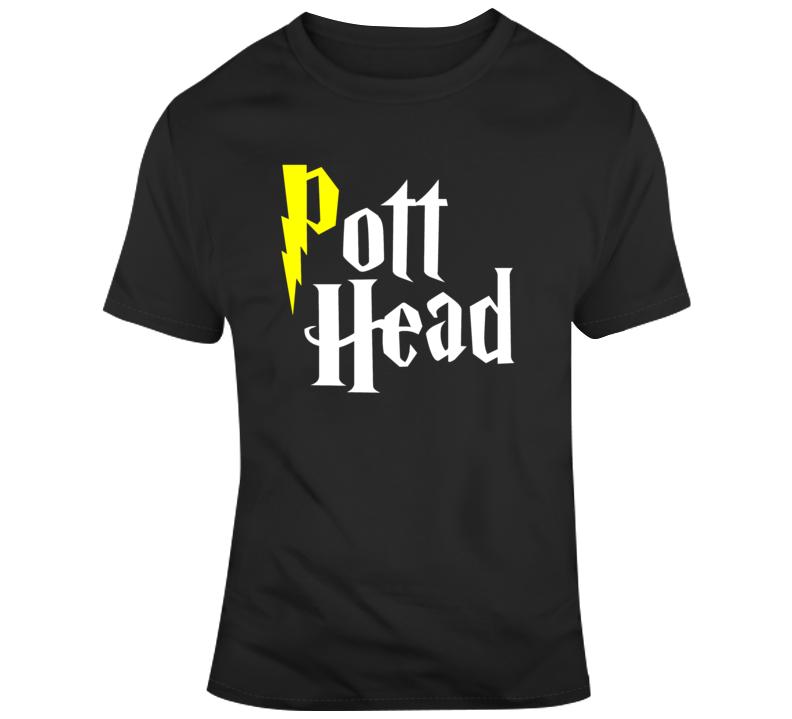Pott Head Harry Potter Weed Marijuana Parody Funny  T Shirt