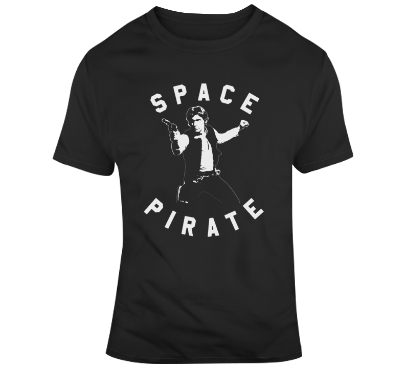 Retro Classic Movie Star Wars Han Solo Space Pirate v2 T Shirt