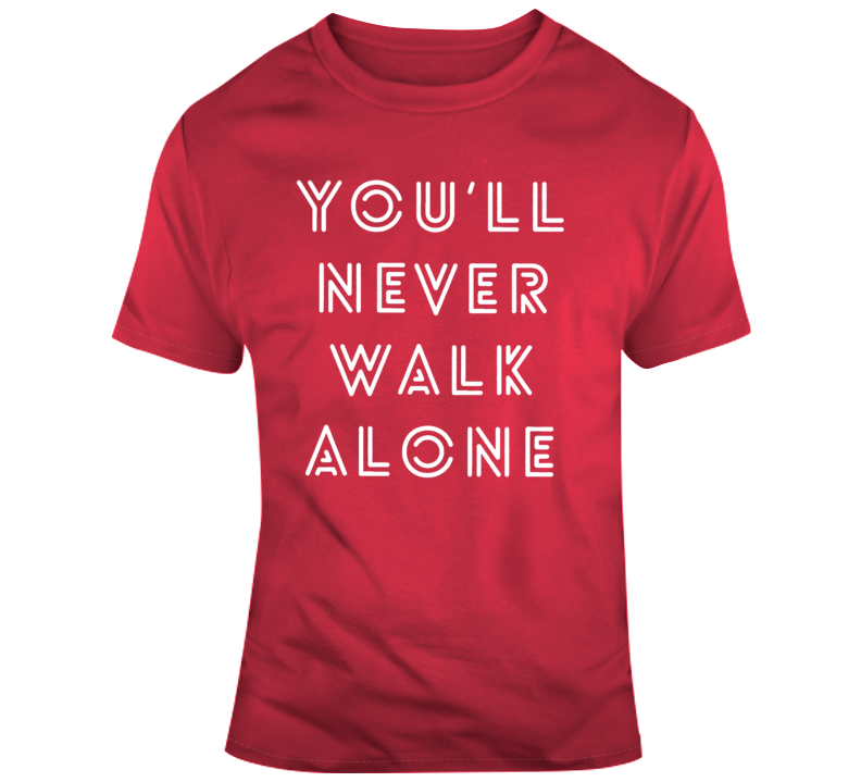 Red Youll Never Walk Alone Cotton T-Shirt Liverpool