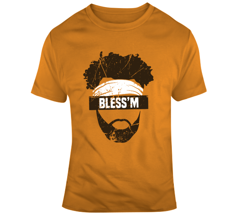 Cleveland Jarvis Landry Bless m Fan Orange Distressed T Shirt 33dd7a6bb