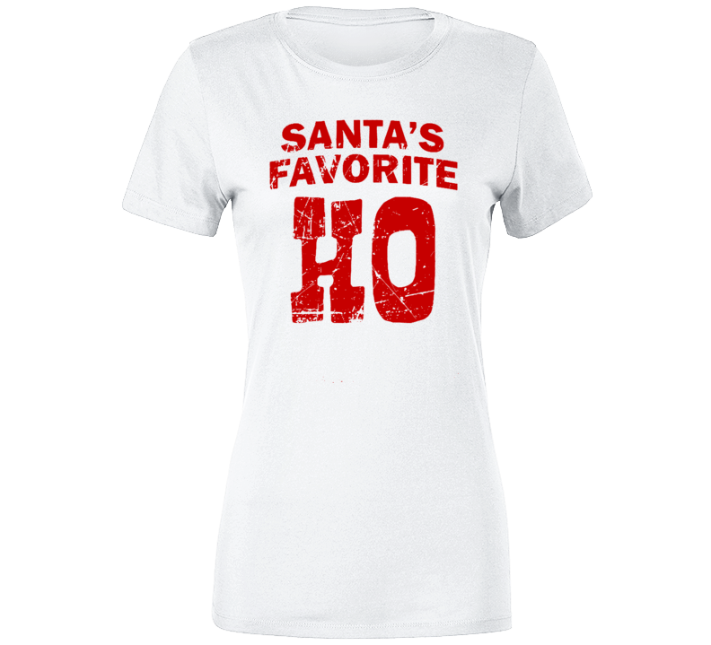 Santa's Favorite HO Christmas Shirt Funny Christmas