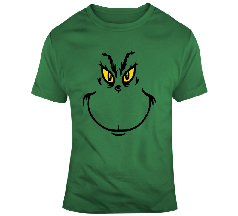 The Grinch Face Christmas Movie  T Shirt