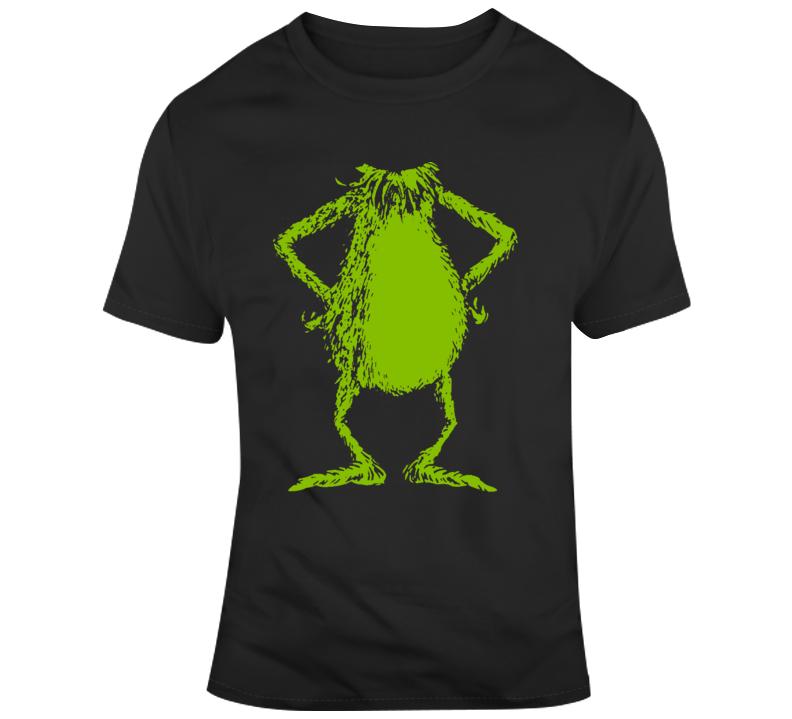The Grinch No Head  Funny Christmas Green Grinch Body  T Shirt