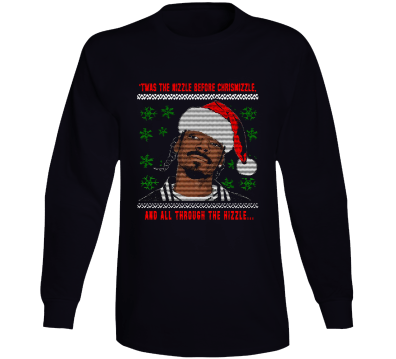 Snoop Dogg Ugly Christmas Sweater Style Long Sleeve