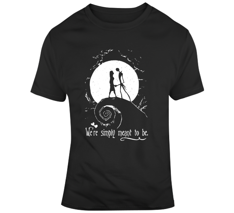 Nightmare Before Christmas Jack and Sally  T Shirt