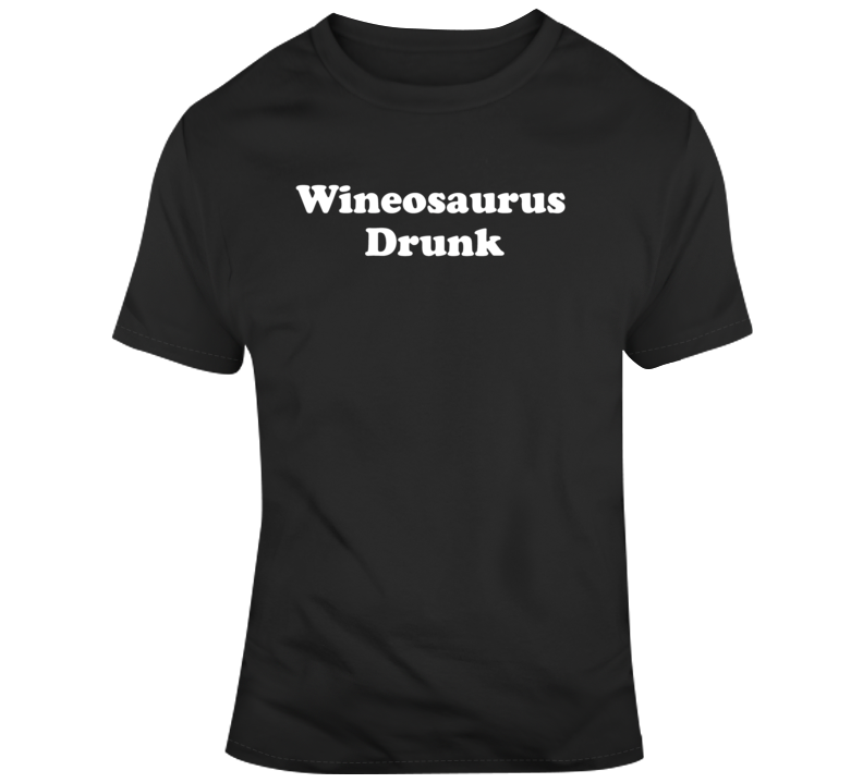 Funny Wineosaurus Drunk Christmas Party Friends  T Shirt