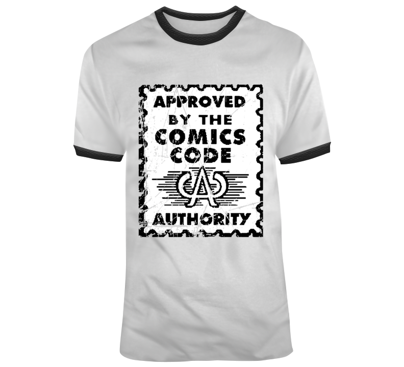 Approved By The Comics Authority Comic Book Fan black T Shirt