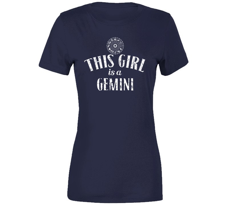 This Girl Is A Gemini Cool Astrology T Shirt