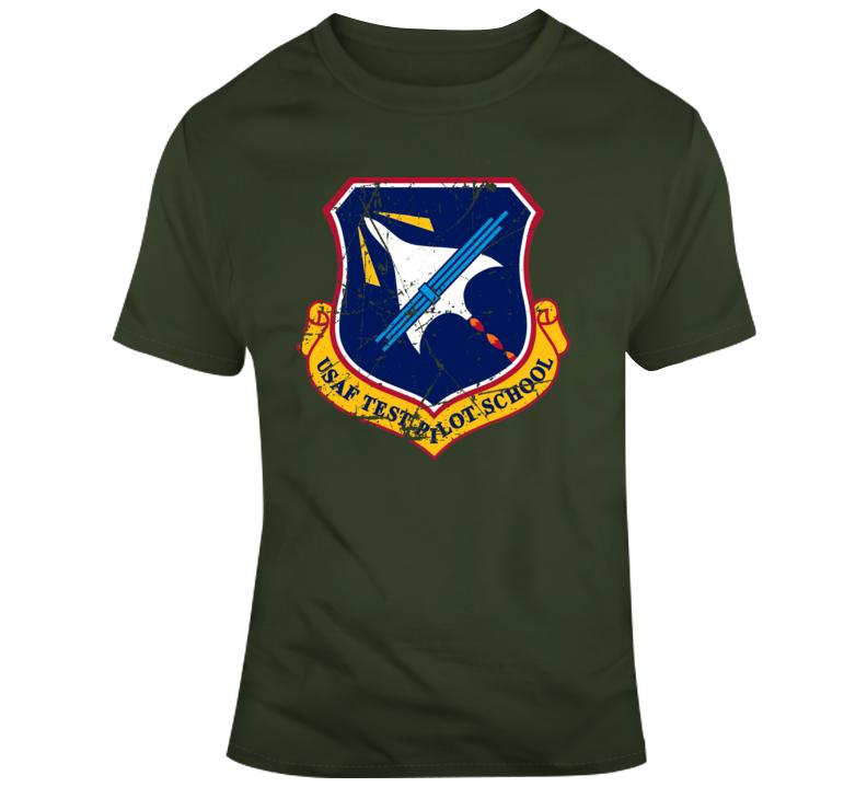 Captain Marvel Movie USAF Test Pilot Patch Distressed T Shirt
