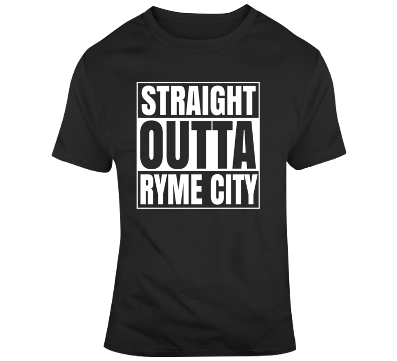Straight Outta Ryme City Detective Pikachu Movie Fan  T Shirt