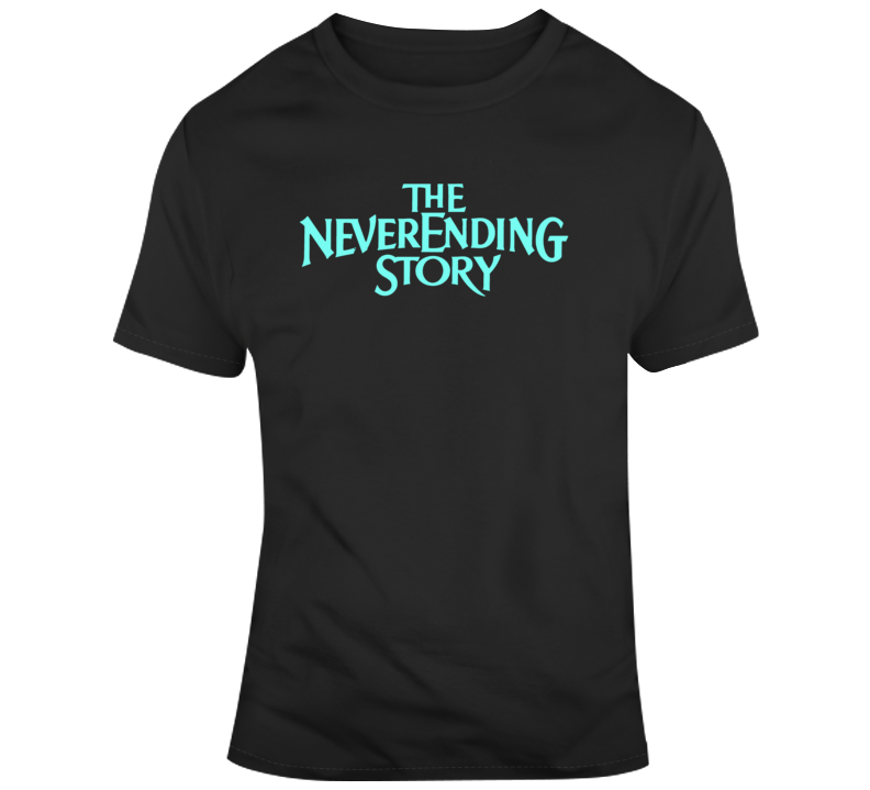 The NeverEnding Story Title Screen Cult Classic 80's Movie Fan  T Shirt