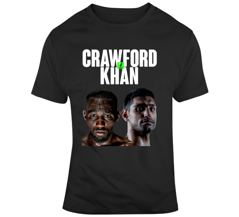 Terence Crawford Vs Amir Khan Boxing Fan Fight Poster  T Shirt