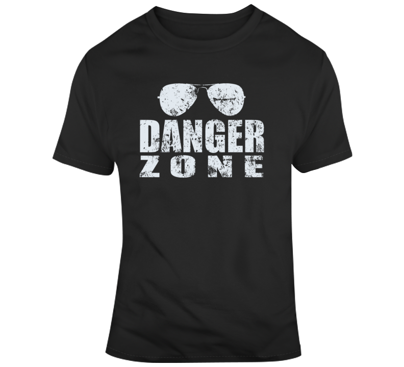 Retro 80's Movie Top Gun Danger Zone Distressed T Shirt