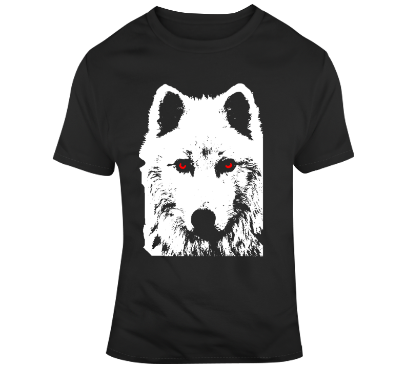 Game of Thrones Jon Snow Dire Wolf Ghost  T Shirt