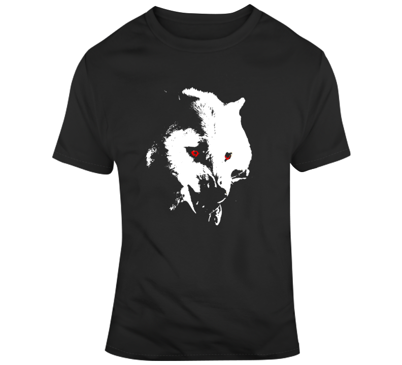 Game of Thrones Jon Snow Dire Wolf Ghost v2 T Shirt