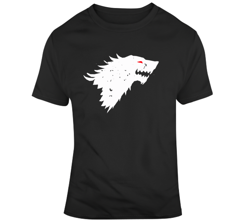 Game of Thrones Jon Snow Dire Wolf Ghost v3 T Shirt