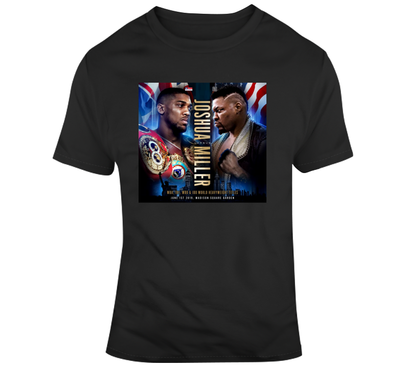 Anthony Joshua vs Jarrell Big Baby Miller Boxing Fight Poster T Shirt