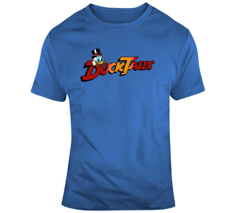 DuckTales Video Game Start Screen Cool Cartoon Fan T Shirt