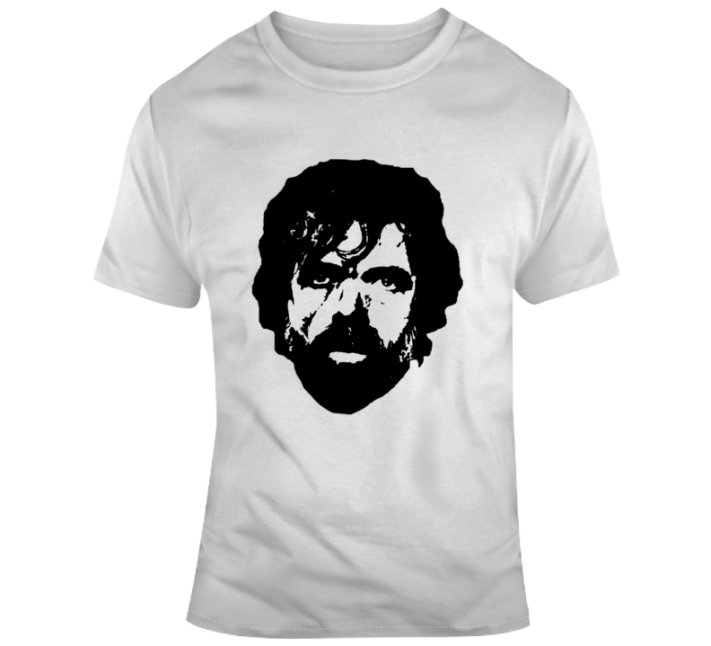 Game of Thrones Tyrion Lannister Big Face Silhouette Fan  T Shirt