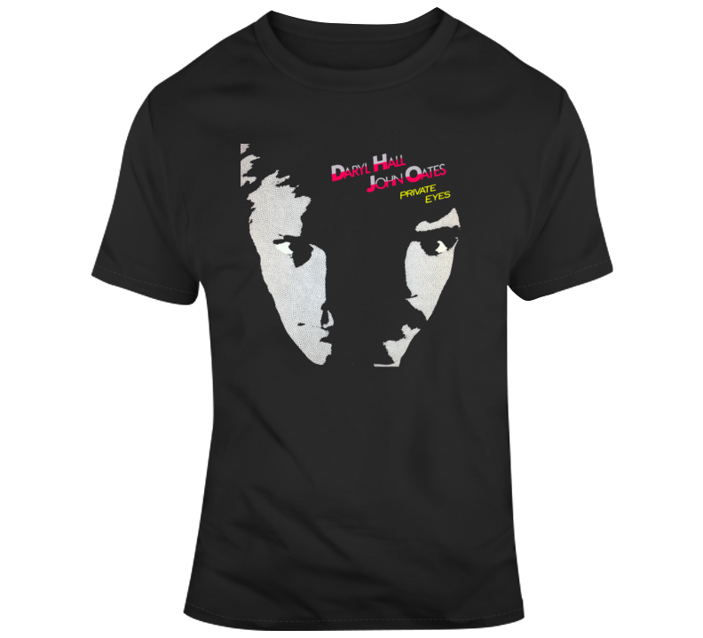 Hall and Oates Retro Music Album Cover T Shirt