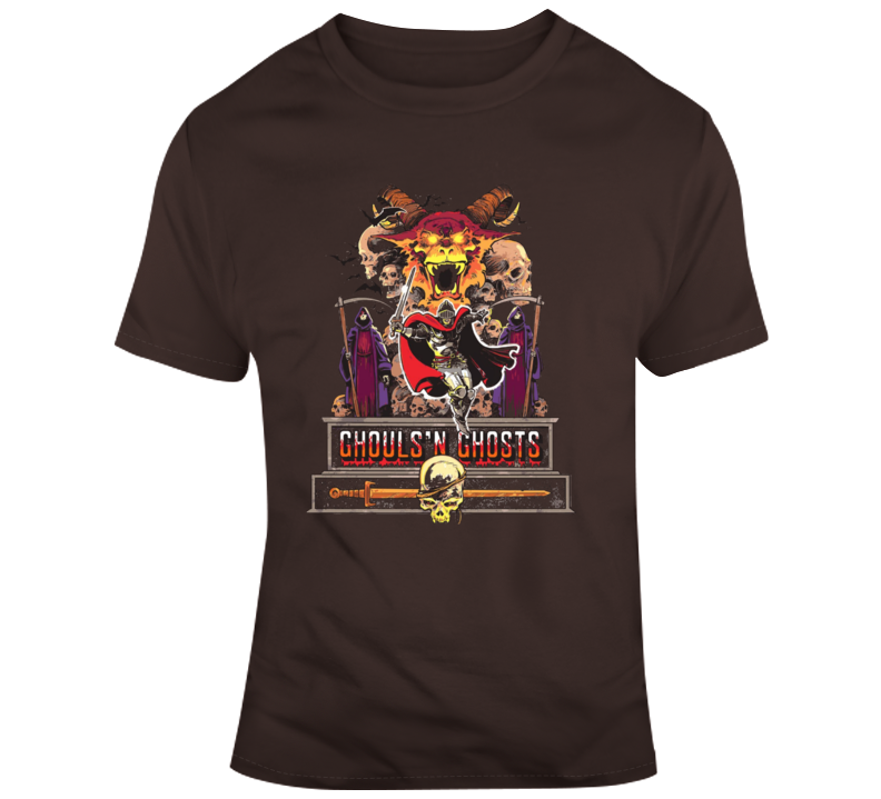 Retro SNes Arcade Game Ghosts and Ghouls Video Game Fan T Shirt