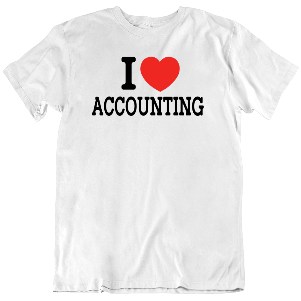 I Heart Accounting  T Shirt