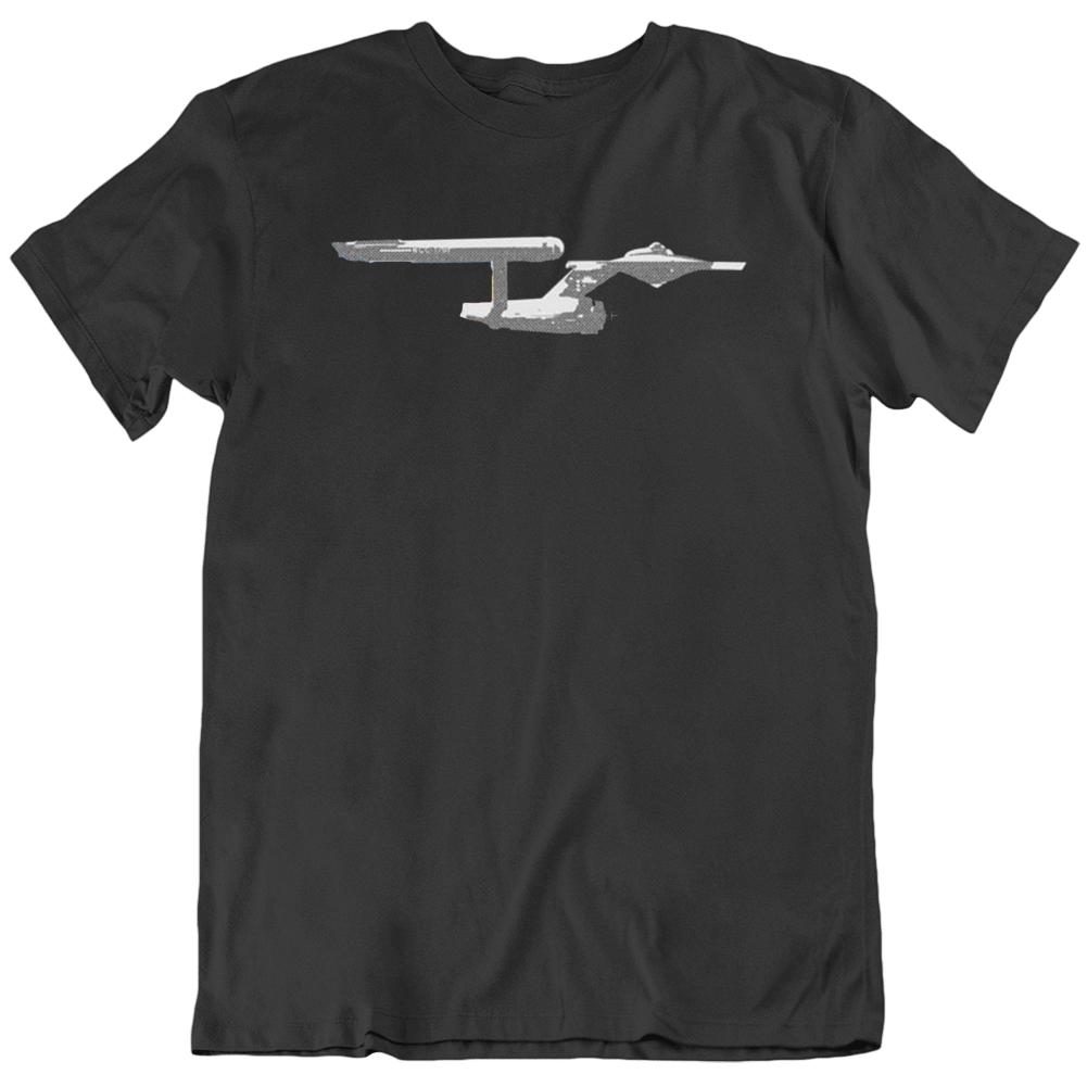 Star Trek Cool The Enterprise TV SHOW Fan  T Shirt