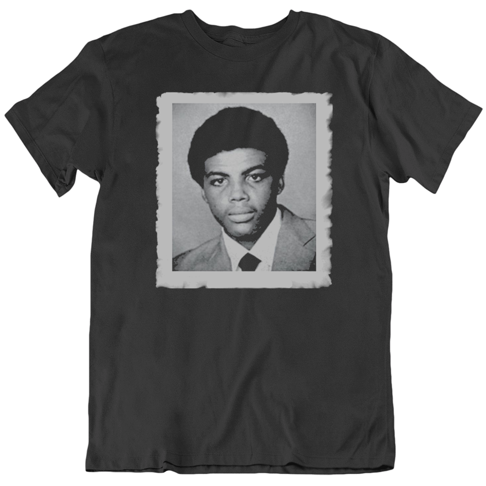 Charles Barkley Retro Photo Black T Shirt
