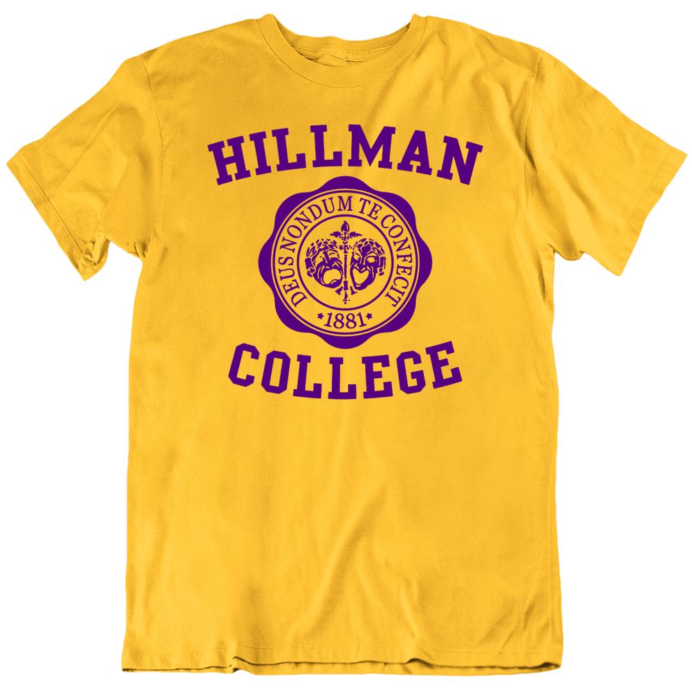 Hillman College A Different World Tv Show Fan Gold T Shirt