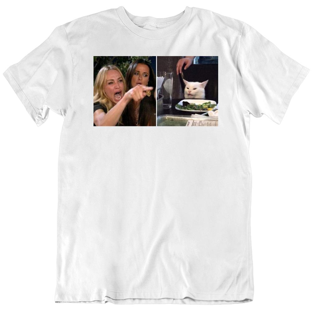 Yelling at Cat Meme  T Shirt