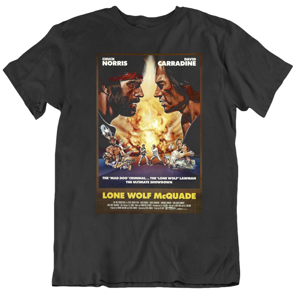 Retro 80's  Movie Lone Wolf McQuade Movie Poster Cool Fan T Shirt